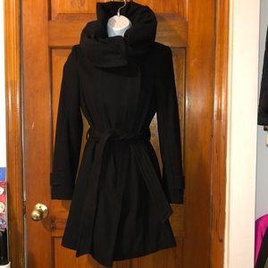 Zara High Collar Toe Waist Coat Small